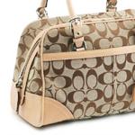 革の付いたバッグ