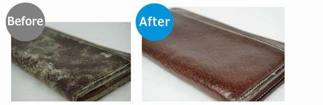 財布のカビ除去
